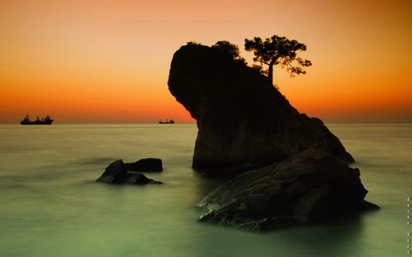 """KURBAĞA KAYASI (Pine rock) *Karadağ'da yapılan FIAP patronajlı 1st International Salon of Photography """"PODGORICA 2013"""" fotoğraf yarışmasında """"favori fotoğraflar"""" kategorisinde sergileme."""